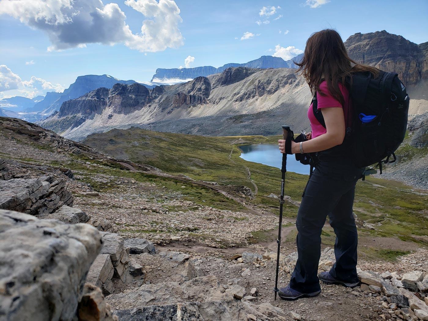 Jolene Rempel en route to Cirque Peak in Banff National Park, Alberta, Canada.